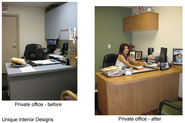 private office design. Private Office - Before And After Design