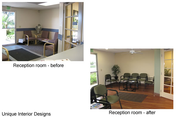 dental office reception. Reception Room Before And After Dental Office