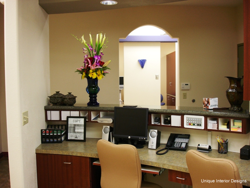 Front Desk Dental Office Design