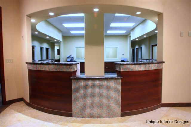 Front Desk with Glass Mosaic Tiles
