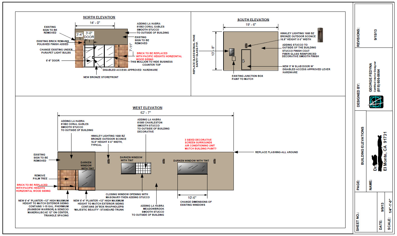 dental office design sample elevations and drawings